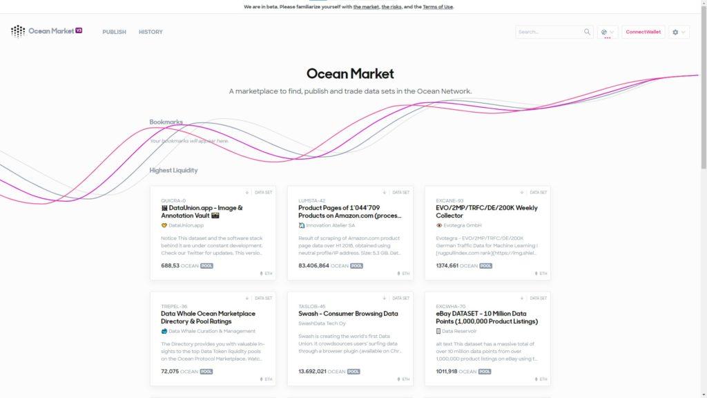 Ocean Market Comprar y Vender Datos